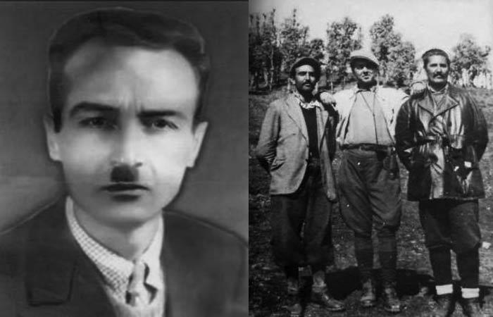 Majtas: Edip Tërshana. Djathtas: Enver Hoxha me dy perfaqesues jugosllavë