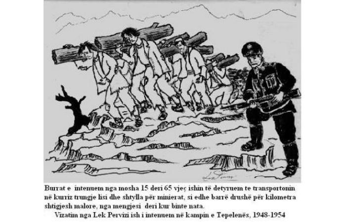 Burrat në internim në kampin e Tepelenës