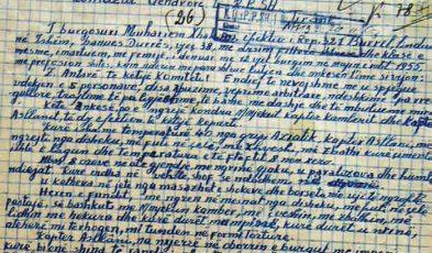 Letra e Muharrem Avdulla Xhakonit