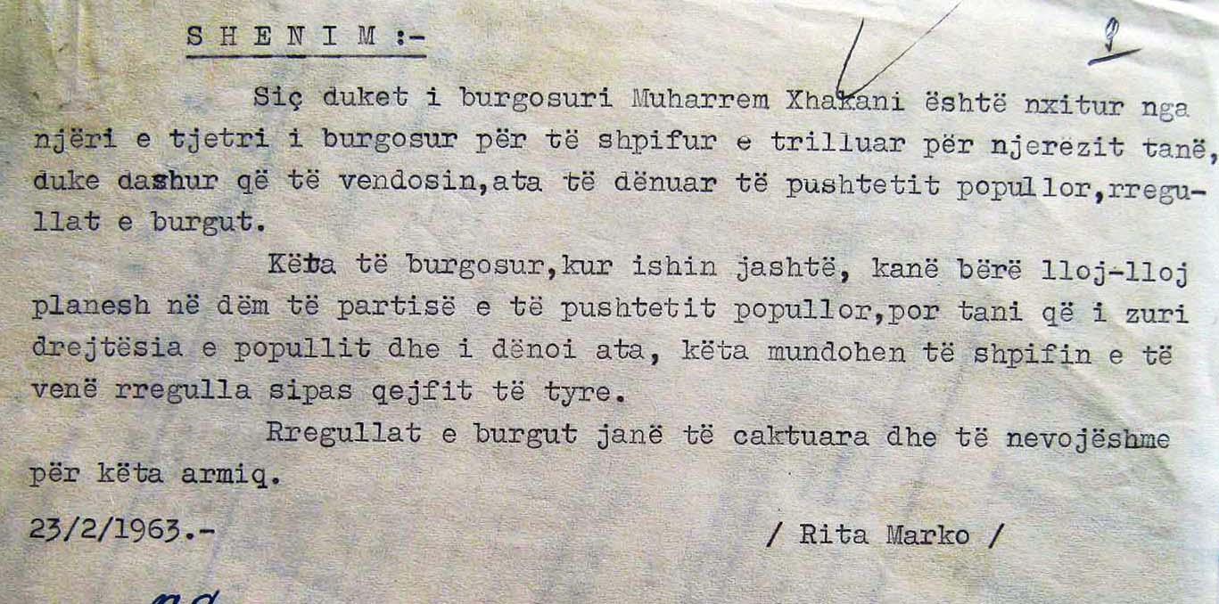 Letra e Rita Markos