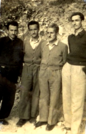Të rinj të internuar në Kuç, 1956