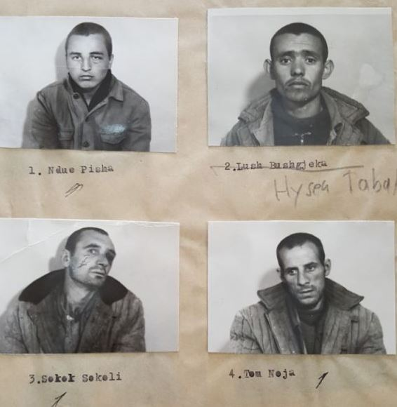 (majtas-djathtas) Ndue Pisha, Hysen Tabaku, Sokol Sokoli, Tom Ndoja