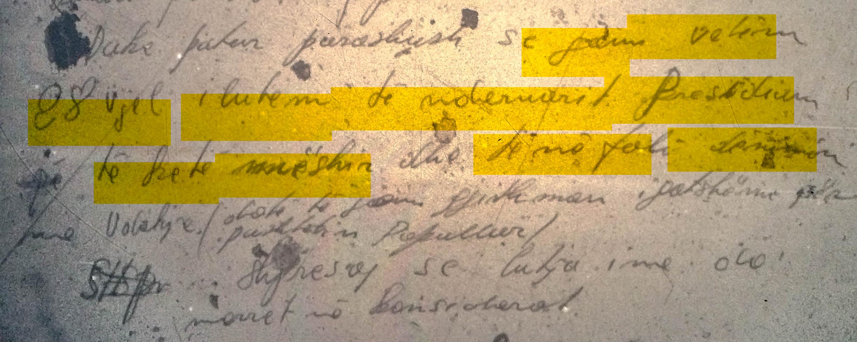 Pjesë nga letra e Hajri Pashajt