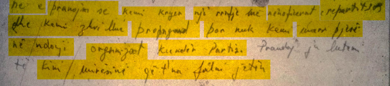 Pjesë nga letra e Pal Zefit