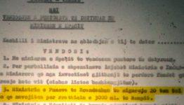 Dosja 50 – 1967; Udhëzim i Mehmet Shehut për ndërtimin e kampit.