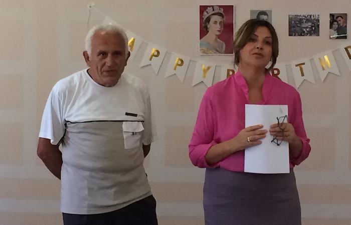 Saimir Maloku dhe kryetarja e AIDSSH, Gentiana Sula